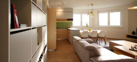 Byt Majerníková – obývačka